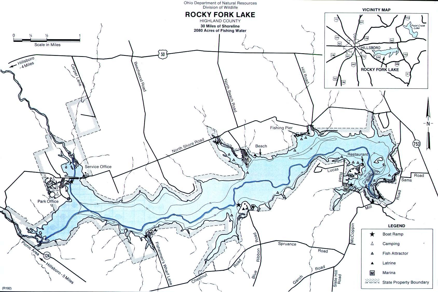 Rocky fork lake for East fork lake fishing report